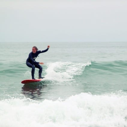 Micha Cerelli surfing.