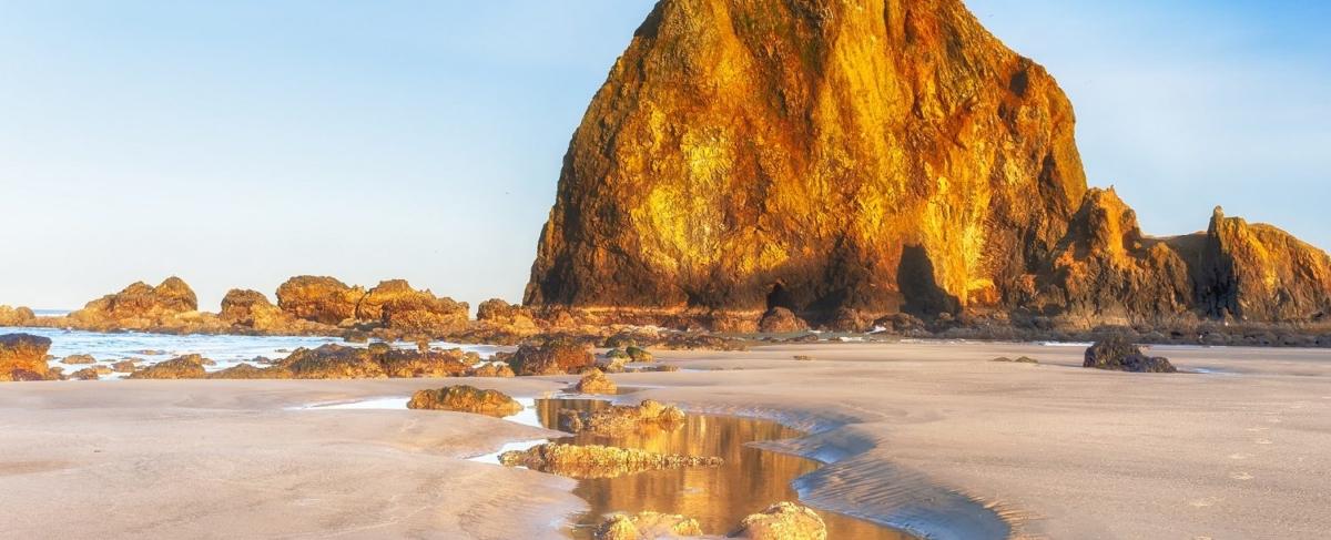 Haystack Rock on Oregon Coast.