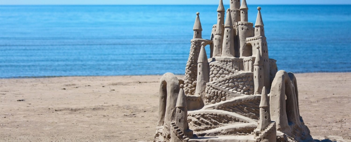 Elaborate sandcastle.
