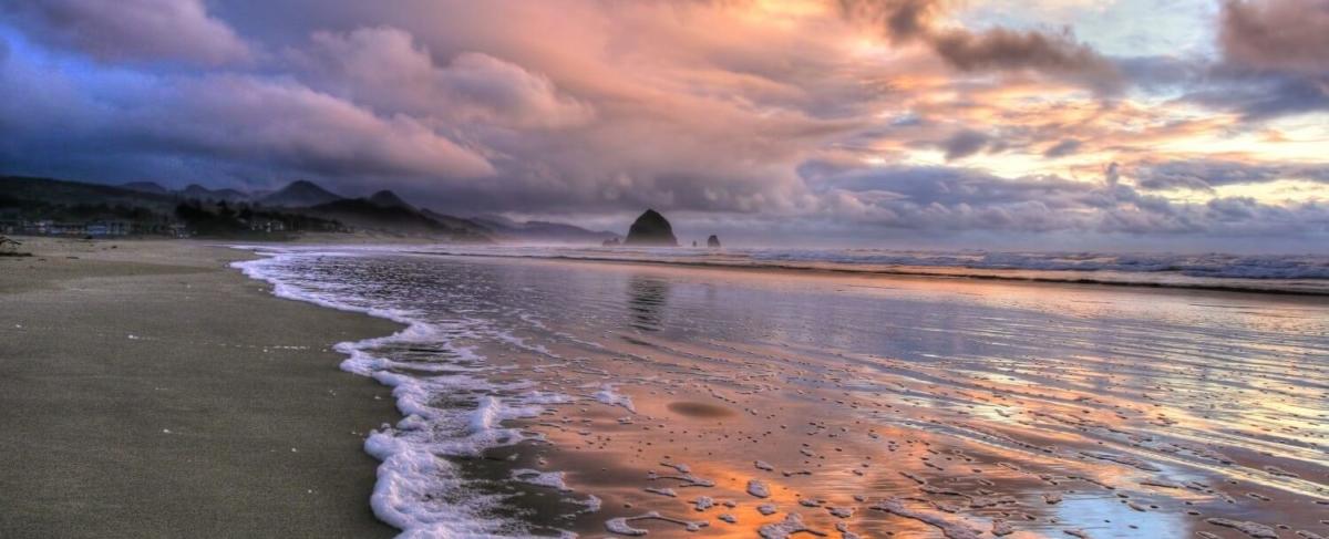 Winter storm on the Oregon Coast.