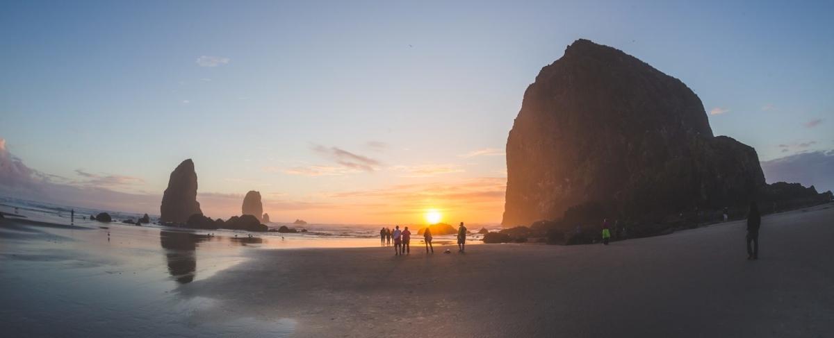 Cannon beach sunset.