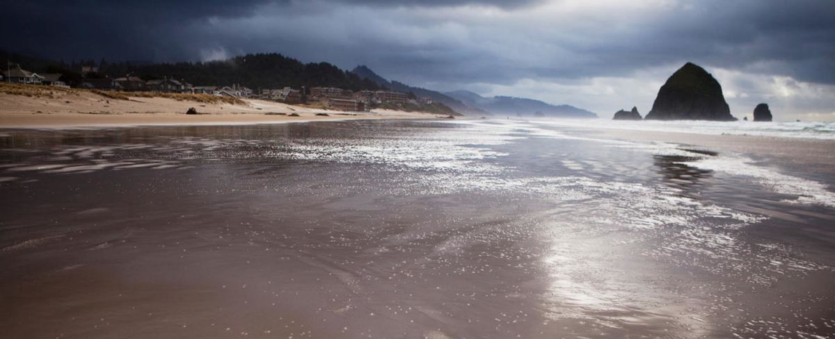 Oregon Coast in winter.