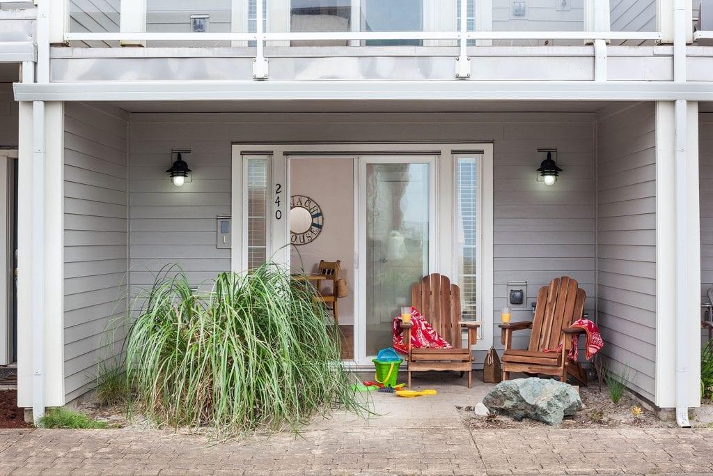 Adirondack Chairs and beach toys