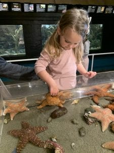 Girl at Seaside Aquarium