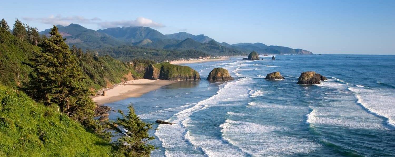 Cannon beach coast.