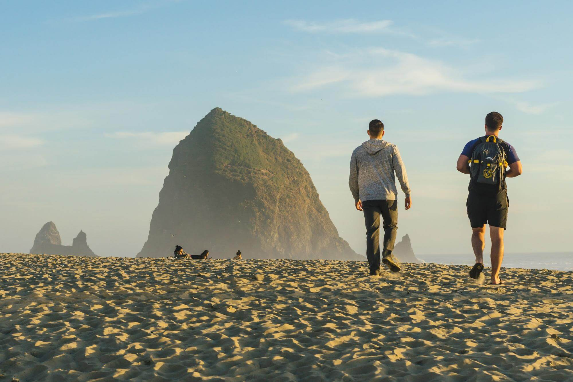 Photo of Cannon Beach. Click for Beach Safety Tips.