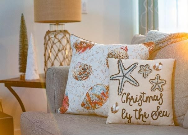 Starfish themed pillows