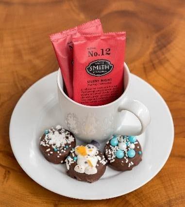 Chocolates and hot chocolate mix.