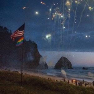 Coastal Oregon Fireworks